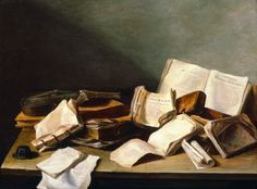 Still-Life of Books byJan Davidsz de Heem