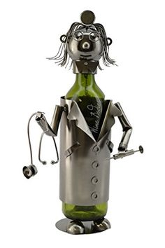 Best Wine Rack | WINE BODIES ZB1030 Lady Doctor Metal Wine Bottle Holder Charcoal >>> Details can be found by clicking on the image. Note:It is Affiliate Link to Amazon.