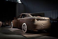 Lexus'un Tamamı Kartondan Yapılan Sürülebilir Otomobili * Bigumigu