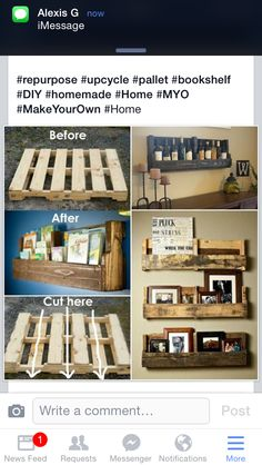 http://meandmadeline.blogspot.com.au/2012/08/wood-pallet-bookshelf-mini-tutorial.html?m=1