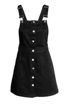 Black overall dress, H&M. Spring Trends 2017 - - Black overall dress, H&M. Spring Trends 2017 Source by evelynpraefke Girls Fashion Clothes, Teen Fashion Outfits, Retro Outfits, Cute Casual Outfits, Grunge Outfits, Casual Dresses, Vintage Outfits, Girl Fashion, Denim Dresses