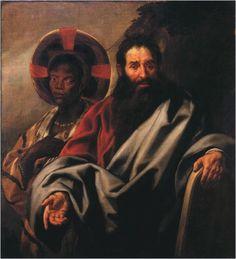 Jacob Jordaens -   Moses and his Ethiopian Wife |  Netherlands (c. 1650)  Oil on Canvas