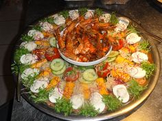 Voorbeeld koude schotel Crudite, Food Buffet, Paella, Cobb Salad, Potato Salad, Low Carb, Vegetables, Ethnic Recipes, Kitchen