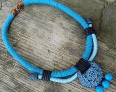 Verklaring ketting Bib ketting touw ketting Boho door Jewelry4UOnly
