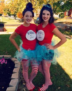 Easy duo costume -Tulle -Crotchet headband -Stripped leggings -Blue hair spray