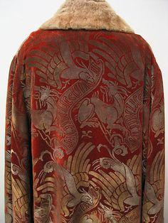 Evening ensemble Maria Gallenga (Italian, Rome 1880–1944 Umbria) Date: 1920s Culture: Italian Medium: silk, glass, fur Dimensions: Length at CB (a): 45 7/8 in. (116.5 cm) Length at CB (b): 41 1/8 in. (104.5 cm) Length (c; with tassel): 7 1/2 in. (19.1 cm) Accession Number: 1991.187.5a–c
