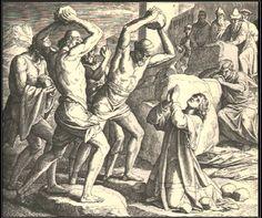 """The Stoning of [Saint] Stephen"" by Julius Schnorr von Carolsfeld Franz Xaver Winterhalter, Santo Estevão, Classical Art Memes, Religion, Saint Stephen, Biblical Art, Catholic Saints, Christianity, Canvas"