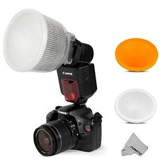 Fomito Universal Cloud Lambency Flash Diffuser  Cover White  Orange Set for Flash Speedlite ** Be sure to check out this awesome product.