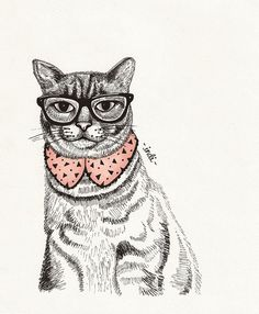 ♥ Hipster Cat ♥