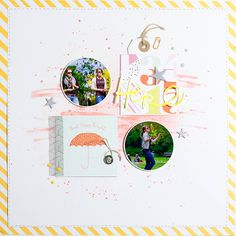 THINK HAPPY THOUGHTS scrapbook layout by Nikki Kehr