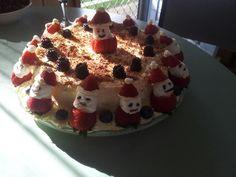 Strawberry Santas pavlova