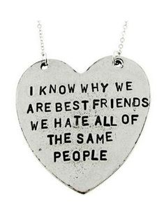 """Our """"I Know Why We Are Best Friends"""" Heart-Shaped Necklace makes a perfect gift for any best friend!"""