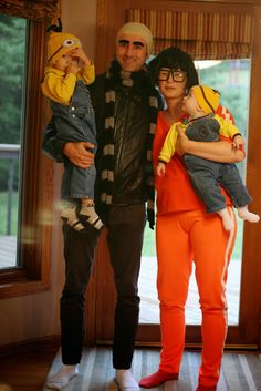 just chic: Halloween costumes: Despicable me family costumes