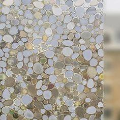 No-Glue Static Decorative Privacy Window Films contemporary-window-film