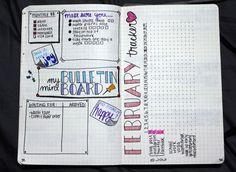 February bullet journal - tracker
