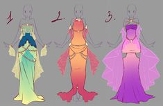 Outfits adopts 7 - Paypal Auction CLOSED by rika-dono.deviantart.com on @DeviantArt