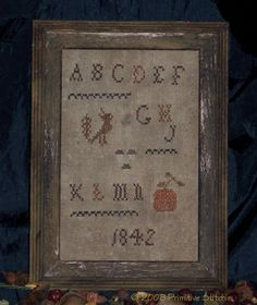 Alphabet Harvest Sampler Pattern - Primitive Stitchin by Shelly Auen