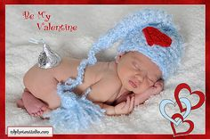 Valentine Elf Baby Boy Crochet Hat with a Heart Applique Photography Prop Sizes Preemie, Newborn, 0-3 months, 3-6 months on Etsy, $15.99