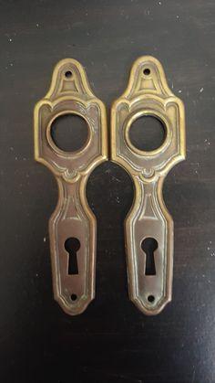 Art Deco Doorknob Back Plates 530906 by CharlestonHardwareCo on Etsy
