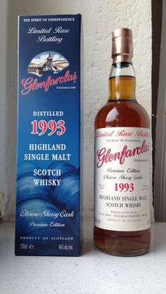 Glenfarclas Highland Single Malt Scotch Whisky, Premium Edition 1993-2013. Oloroso Sherry Cask. Aged 20 Years. 46%. 76 Dollar.