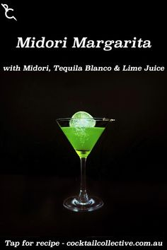 Midori Margarita uses the Tequila and Lime juice of the original, simply replacing Cointreau with Melon Liqueur for a vibrant green drink. Midori Cocktails, Margarita Cocktail, Instagram Sign, Lime Juice, How To Know, Tequila, Cocktail Recipes, Vibrant