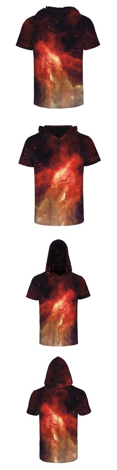 FJUN Red Star Sky Hoodies T-shirt 3d Printing Funny T shirts Pullover/O-neck Top Tees