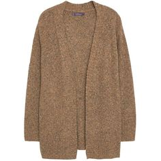 Violeta by Mango Wool Blend Cardigan, Light Beige (100 BRL) ❤ liked on Polyvore featuring tops, cardigans, jackets, outerwear, sweaters, cable cardigan, beige cardigan, brown top, brown cardi and chunky cable knit cardigan
