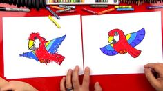 Learn how to draw a cartoon parrot! This activity is meant for younger artists. We tried to keep this lesson short and simple. You'll need something to draw with,some paper and something to color with. We used oil pastels in this lesson but you can use anything (crayons, markers, colored pencils). If you found thislesson …