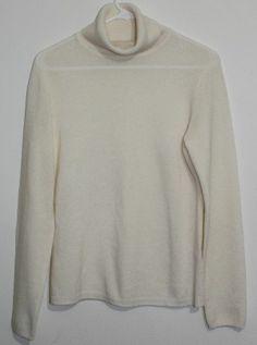 $24.95 OBO Women's Madison 100% Cashmere Cream Turtleneck Long Sleeve Sweater Size: Medium