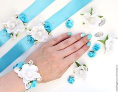Bridesmaid Corsage, Wedding Day, Wedding Rings, Wrist Corsage, Flower Bracelet, Diy And Crafts, Bouquet, Ribbon, Wreaths