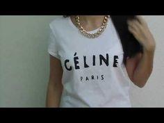 DIY - Camiseta Céline   Céline T-shirt