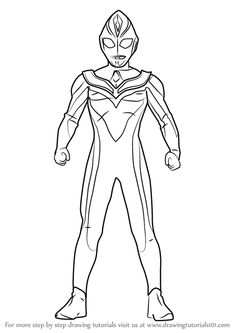 Learn How To Draw Ultraman Dyna Ultraman Step By Step Drawing Tutorials Step By Step Drawing Abstract Coloring Pages Drawings