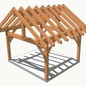 14×16 Timber Frame Plan