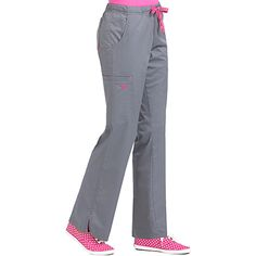 These junior-fit scrub pants from Med Couture have lots of sporty details and a little bit of stretch. The Moda drawstring scrub pant has a front drawstring as well as a full elastic waist for idea. Leg Scrub, Scrub Pants, Scrub Tops, Scrubs Outfit, Scrubs Uniform, Med Couture Scrubs, Stylish Scrubs, Plus Size Yoga, Yoga Dress