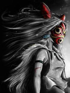 Mononoke San Fury Painting
