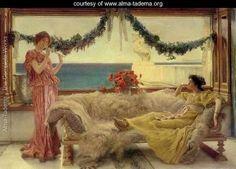 Melody on a Meditaranean Terrace - Sir Lawrence Alma-Tadema - www.alma-tadema.org