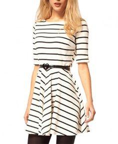 Skater Dress in Stripe Design