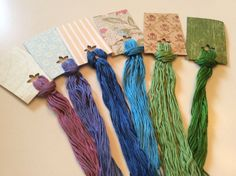Wholesale - Overdyed Floss New Colors!- 6 large skeins - Natural Dyes  Lot 26 #QueenCityDyeCompany