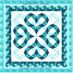 Quilt Pattern / Storm at Sea variation / by QuiltPatterns on Etsy