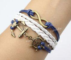 Bronze retro infinity bracelets anchor and anchor by vividiy, $4.99