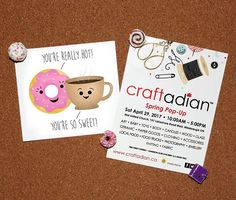 I've got some awesome news!  I'll be at the @craftadian Spring Pop-Up in Mississauga on April 29!  Come say hello and snag some punnies - oh and if you're one of the first 50 shoppers you'll be getting an awesome swag bag of goodies including a FREE Punny Card! See you there!  . . . . . #alittleleafy #craftadian #vaughan #vaughanmoms #vaughanmomapproved #vaughanevents #toronto #torontomakers #etsy #etsyca #handmade #etsyshop #etsygift #cute #etsystore #etsyseller #greetingcard #shopsmall
