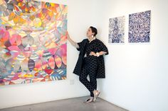wow! i'm so much more in love with this painting by hadley holliday.. now that i see the scale of it! via la in bloom
