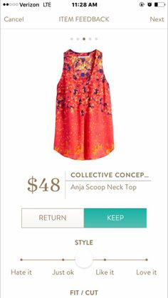 Love the bright colors in this top. Dress up or down and goes well with jeans of most colors.