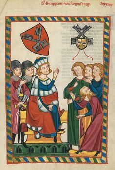 Codex Manesse, fol. 318r, 1305-1340, Zürich.