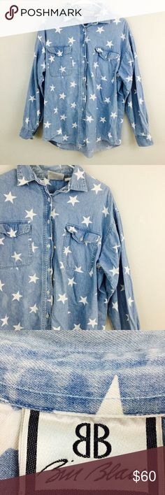Vintage Demin Star Long Sleeve! Size large! Tops Tees - Long Sleeve