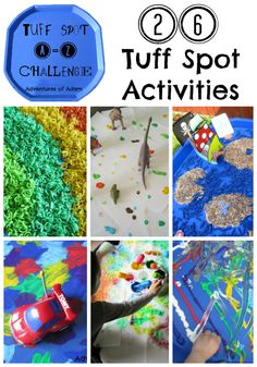 Tuff Spot A-Z Activities | http://adventuresofadam.co.uk/tuff-spot-a-z-activities/