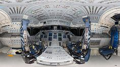 High resolution panorama of Endeavours flight deck