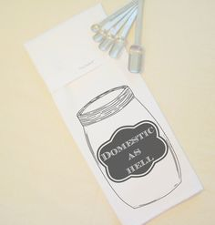 Domestic as Hell - Hang Tight Towel on Etsy, $11.99