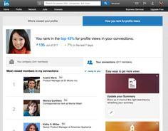LI how-you-rank for profile views  / vylepšená funkce na LinkedIn