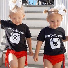 These dolls are twinstagramin' it up on this lovely Thursday!! Do your twinsters own these tees? If not, snag them today!